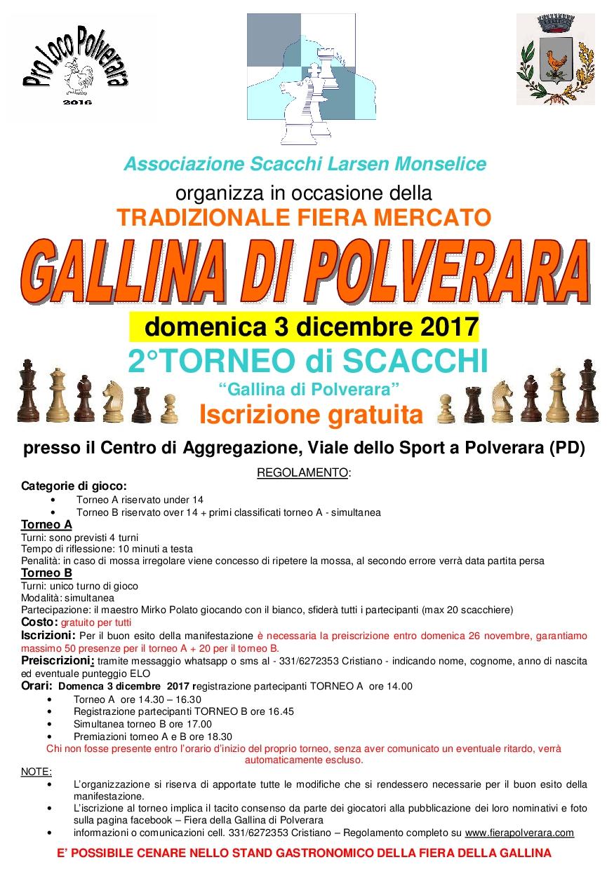 Volantino torneo scacchi 2017